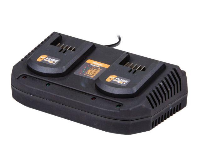 Fuse polnilnik za 2 akumulatorja 18V 2x3.5A