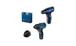 Komplet profesionalnih orodij GSR 120-LI + GDR 120-LI + 2x 12V 2,0 Ah + GAL 12V-40 + kovček (0 601 9G8 023)