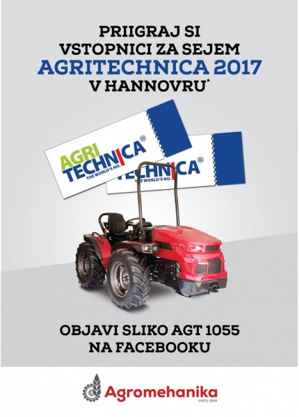 Priigraj vstopnice za Agritechnica 2017