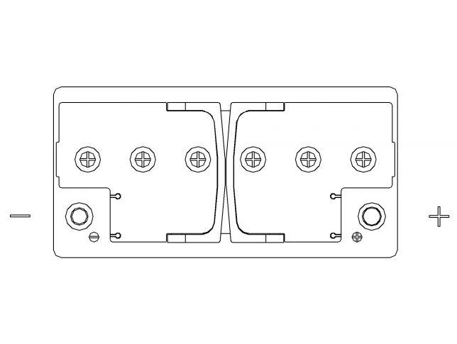 Akumulator Autopart Galaxy 12V 100Ah Efb